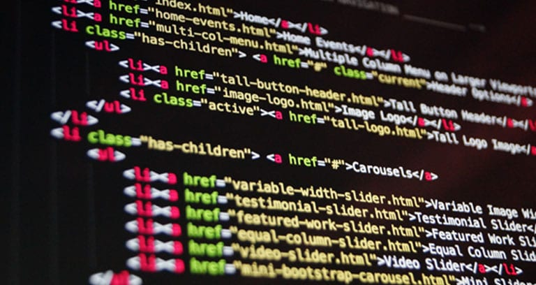 Computer coding for web development